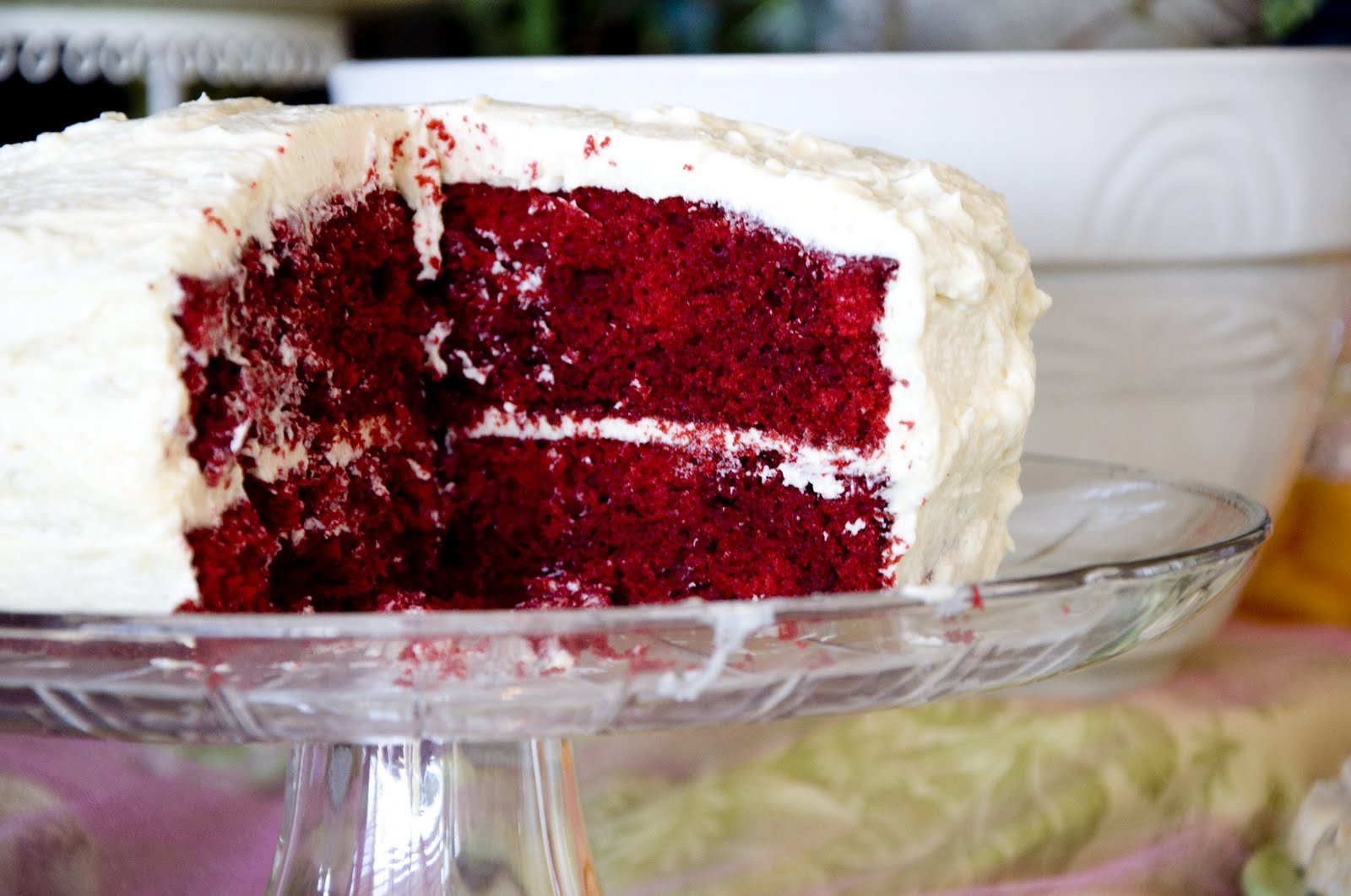 ... and when it comes to cakes my favorite is red velvet i nearly eat red